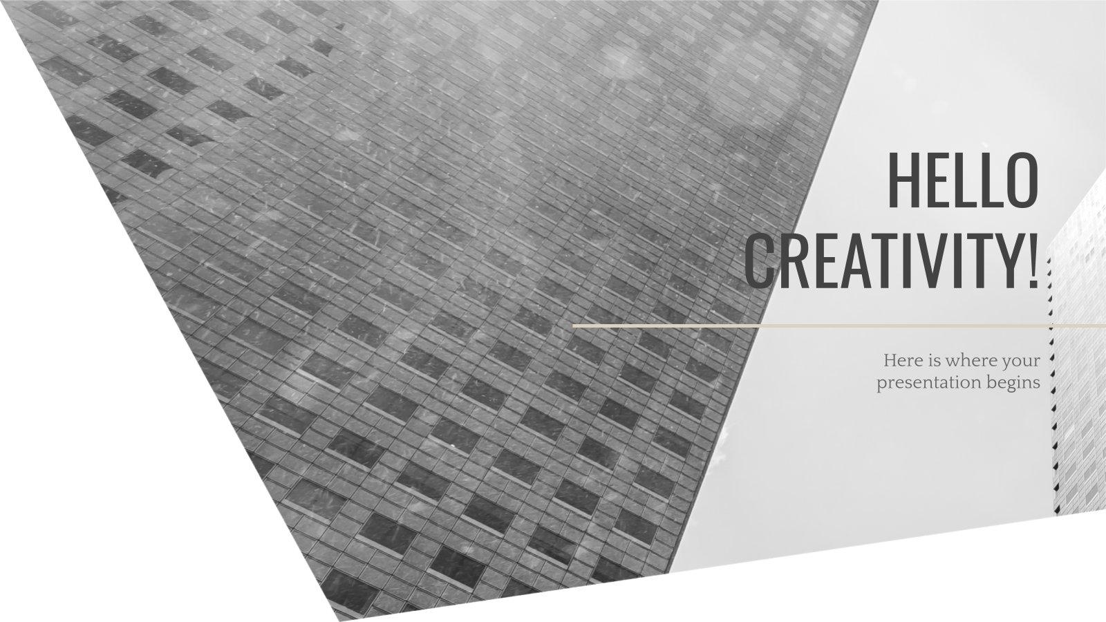 Black and White Architecture presentation template