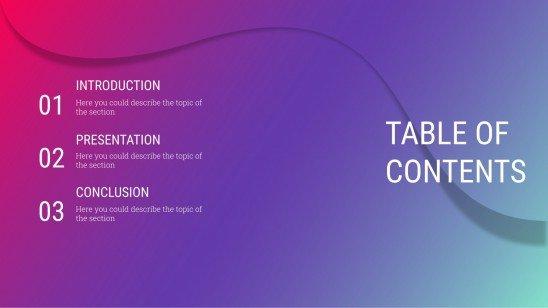 Neon Curves presentation template
