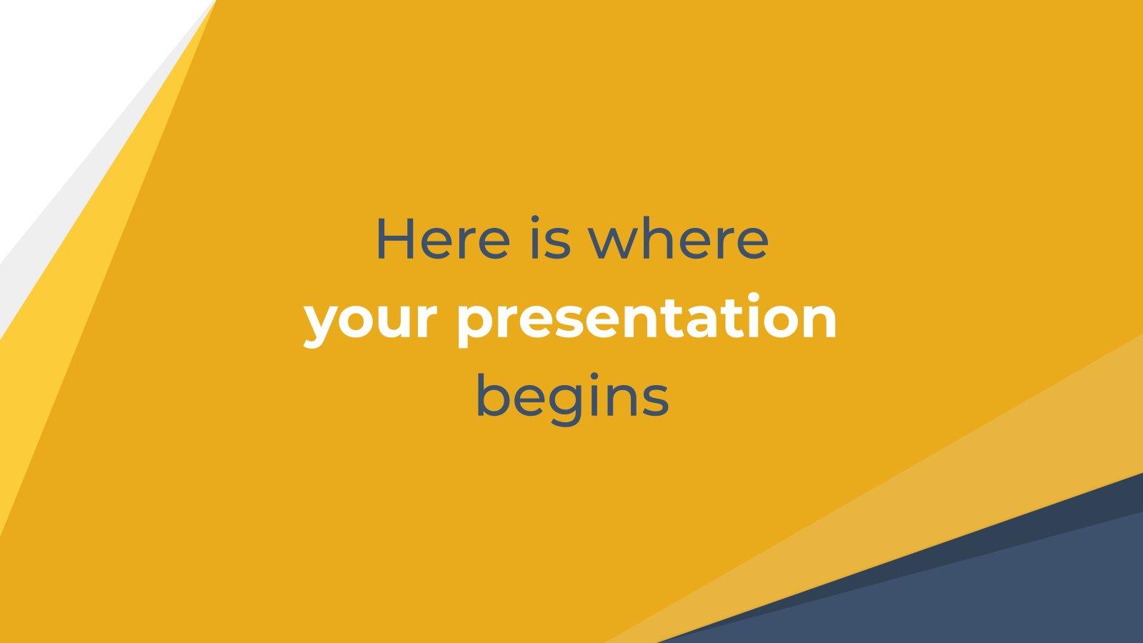 Abstraktes Gelb Geschäft Präsentationsvorlage