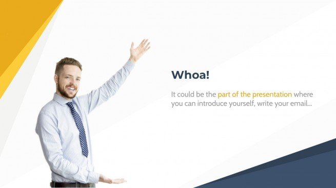 Yellow Abstract Business presentation template