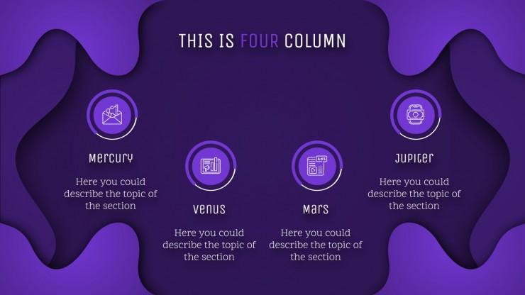 Purple Gradient Waves presentation template