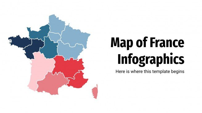 Map of France Infographics presentation template
