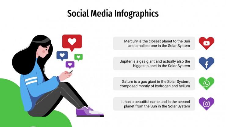 Modelo de apresentação Infográficos de mídia social