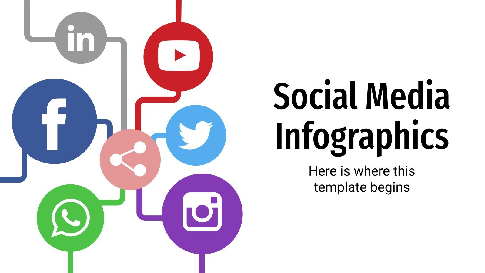 Social Media Infographics presentation template