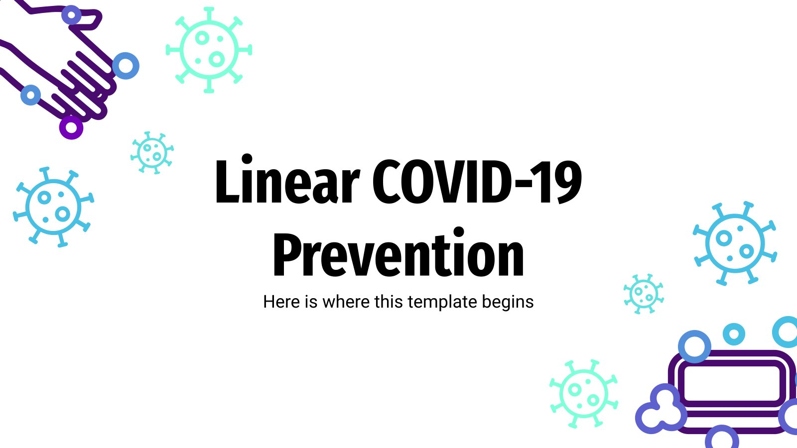 Linear COVID-19 Prevention presentation template