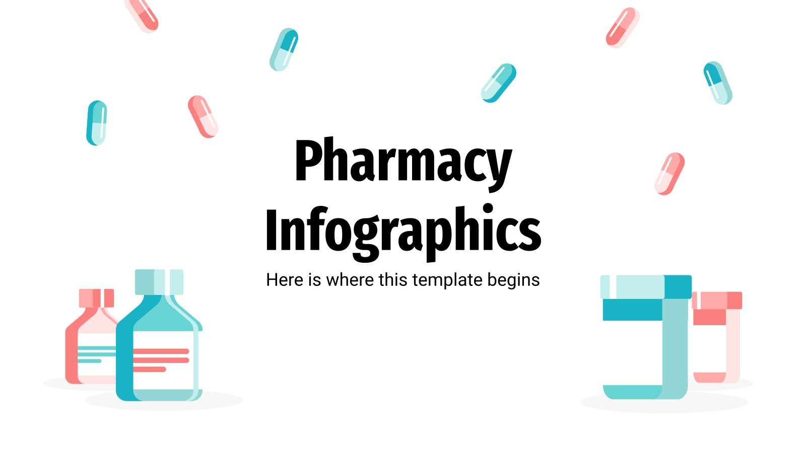Pharmacy Infographics presentation template
