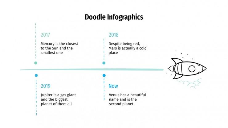 Modelo de apresentação Infográficos de rabiscos
