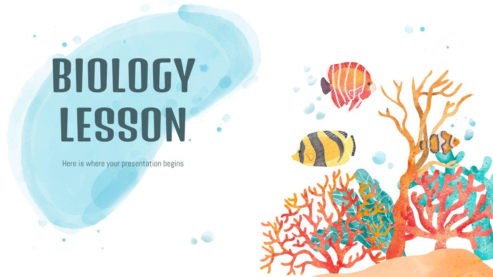 Modelo de apresentação Aula de biologia