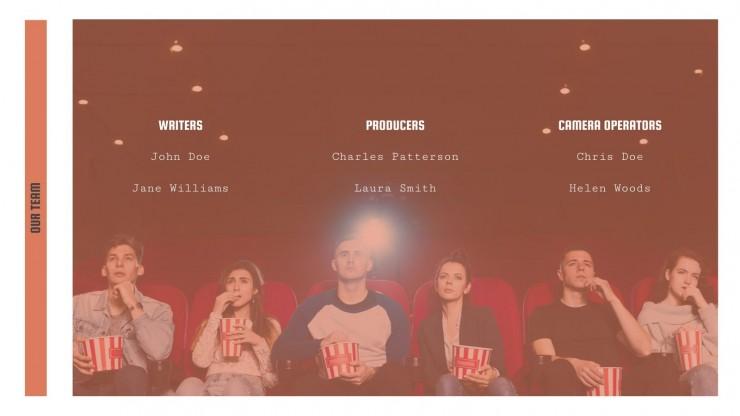 Modelo de apresentação Campanha de marketing de filmes