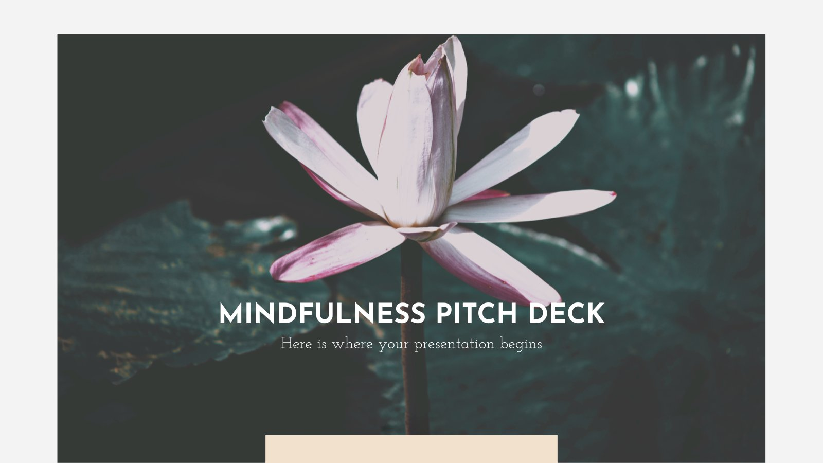 Mindfulness Pitch Deck presentation template