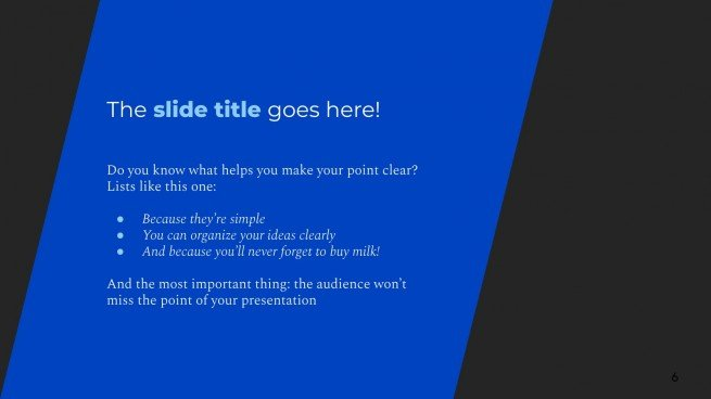 Elegant Blue presentation template