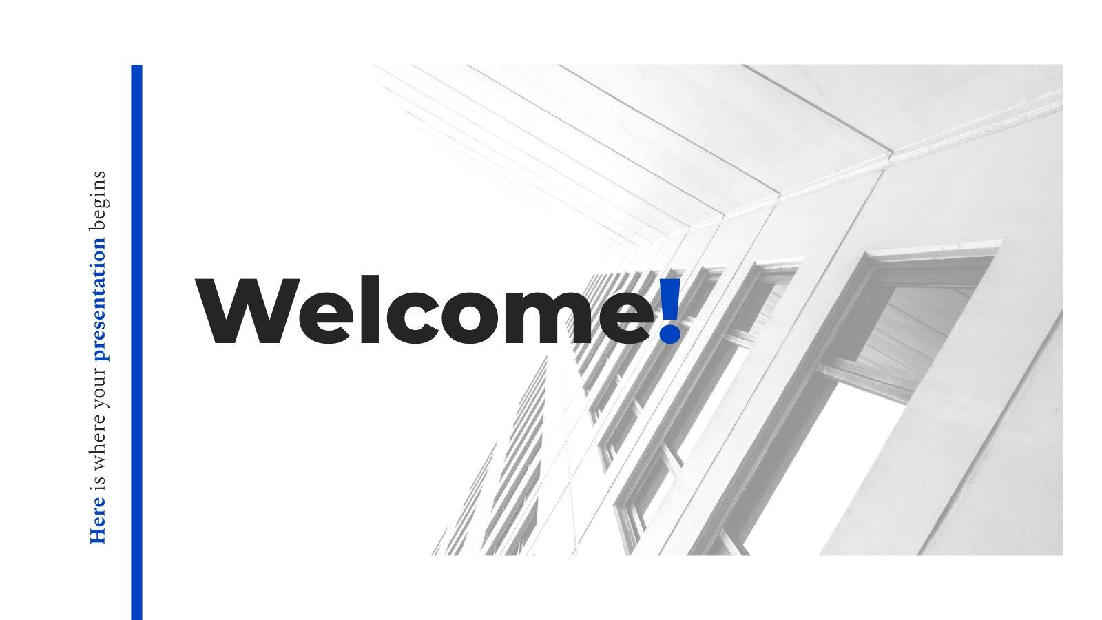 Élégant bleu : Modèles de présentation