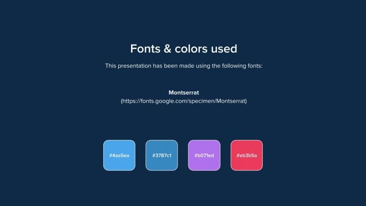 Plantilla de presentación Diseño colorido