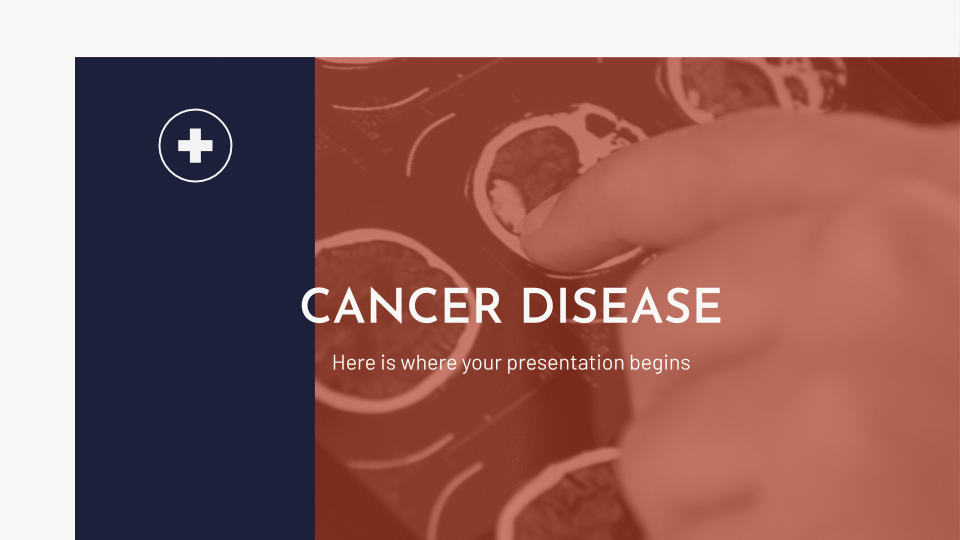 Cancer Disease presentation template thumbnails