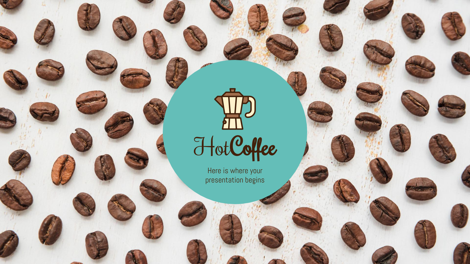 Hot Coffee Shop presentation template