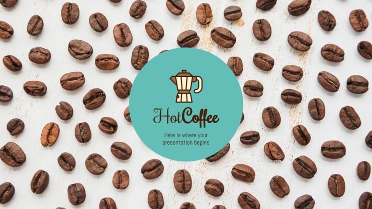 Modelo de apresentação Café Hot Coffee