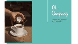 Hot Coffee Shop presentation template