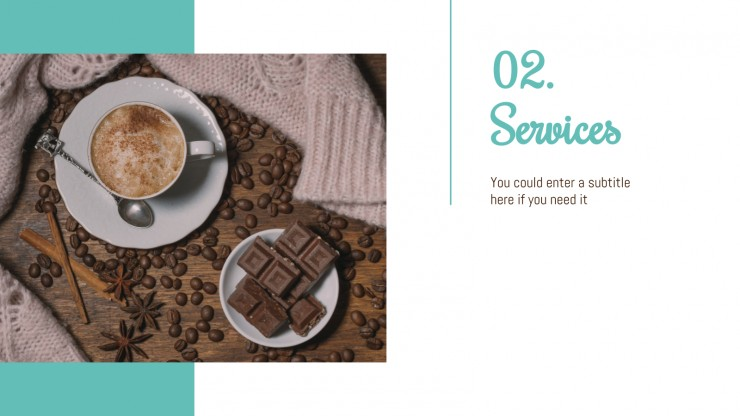 Café : Modèles de présentation
