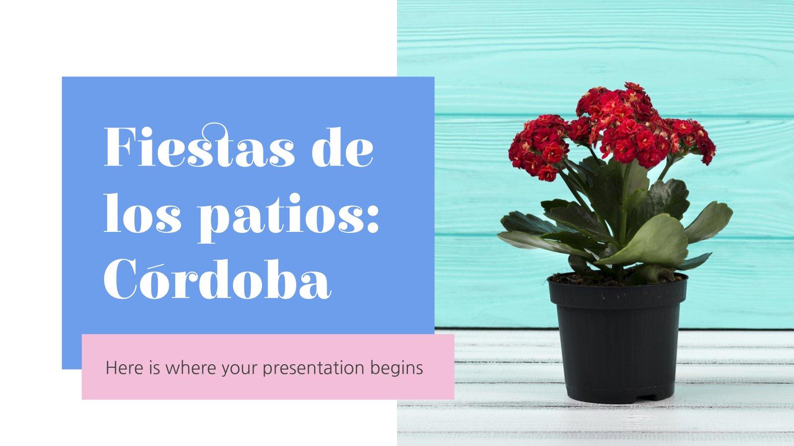 Plantilla de presentación Fiesta de los patios: Córdoba