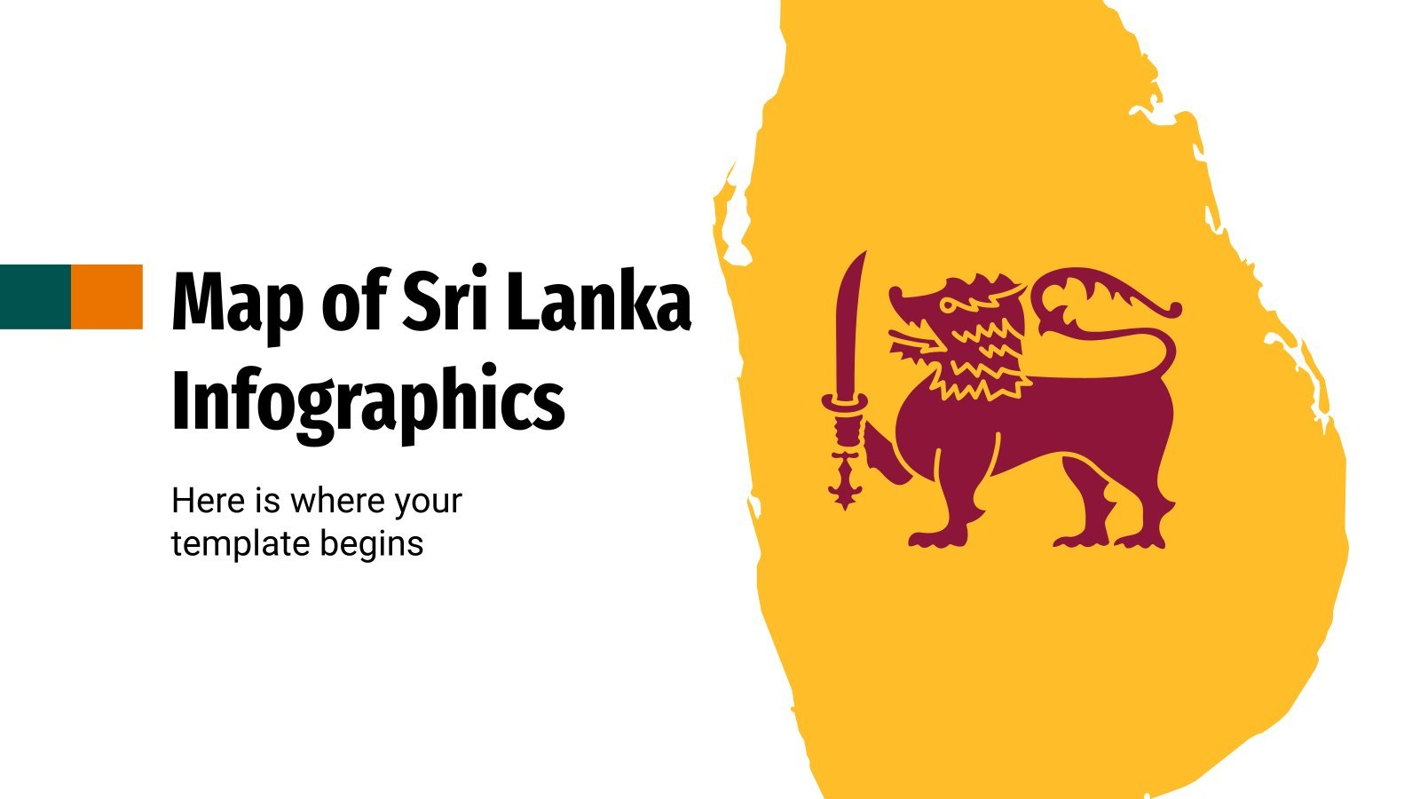 Map of Sri Lanka Infographics presentation template