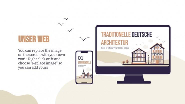 Traditionelle Deutsche Architektur : Modèles de présentation