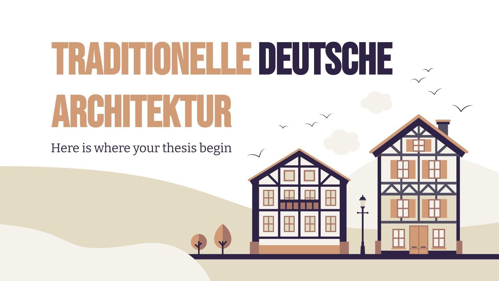 Plantilla de presentación Traditionelle Deutsche Architektur