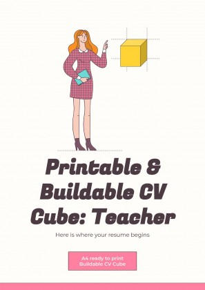 Printable & Buildable CV Cube: Teacher presentation template