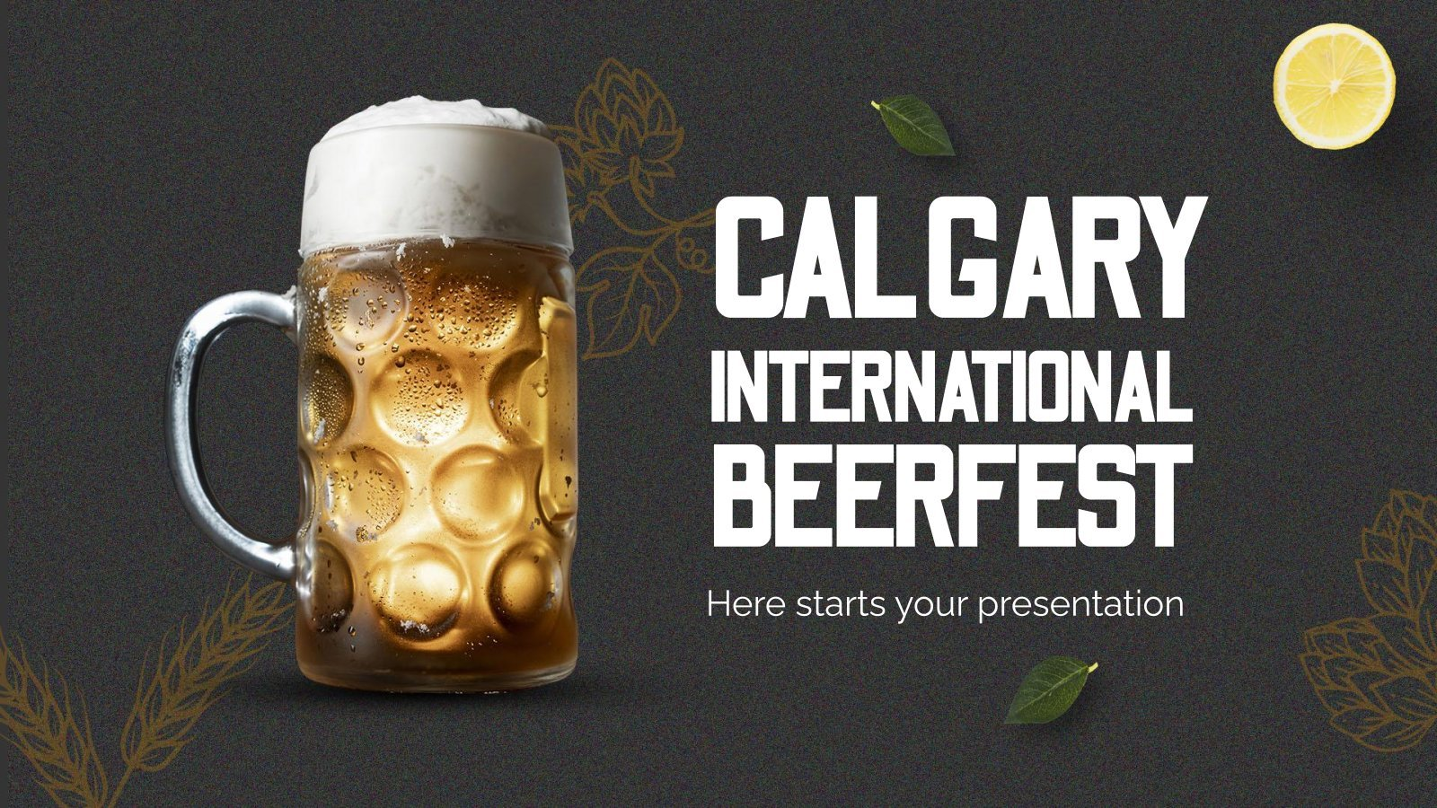 Calgary International Beerfest presentation template