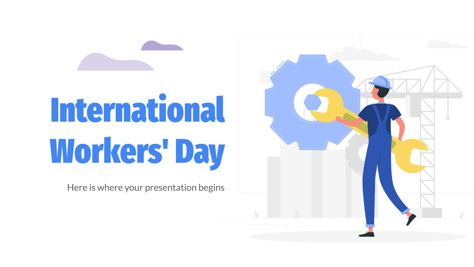 International Worker's Day presentation template