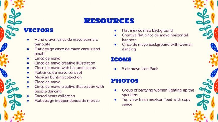 Cinco de mayo : Modèles de présentation