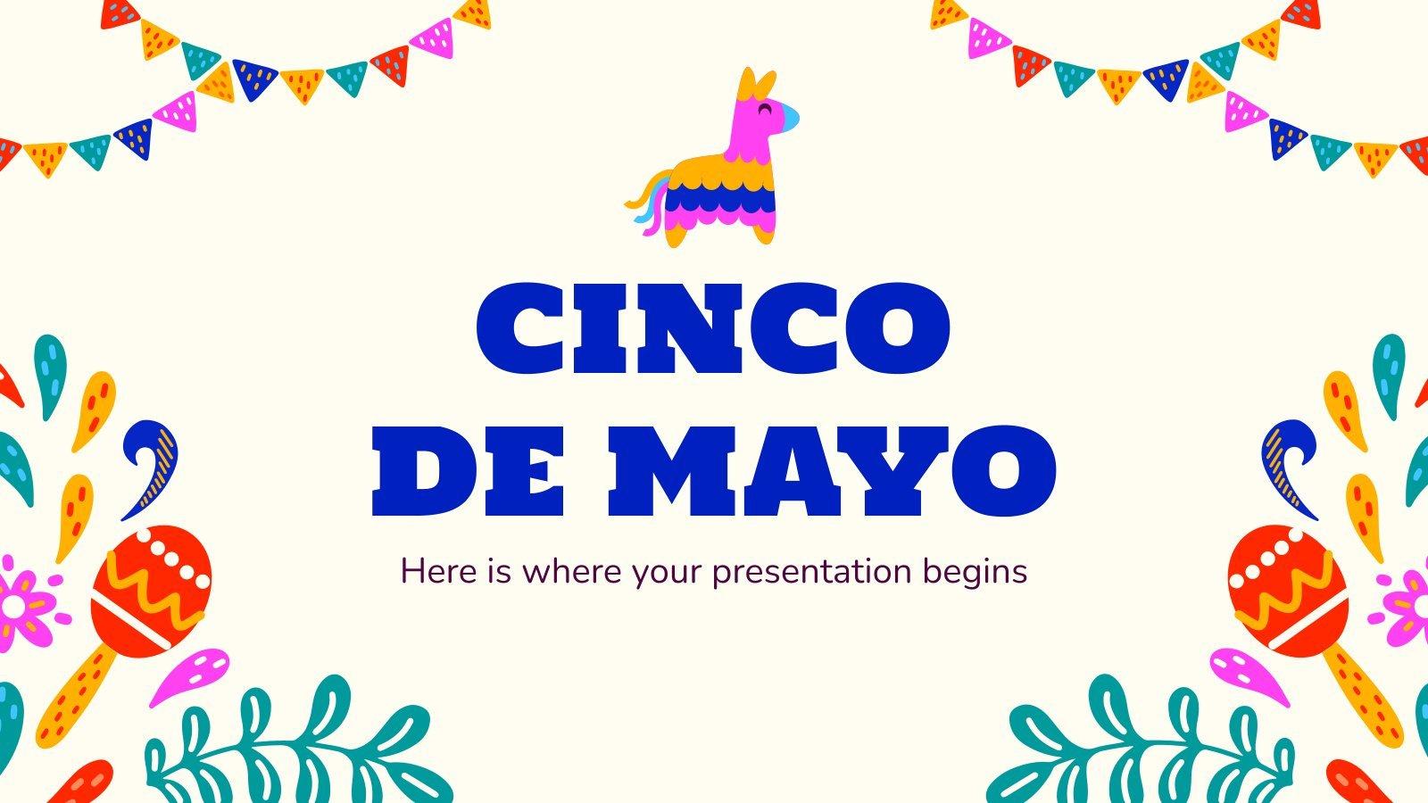 Modelo de apresentação Cinco de mayo
