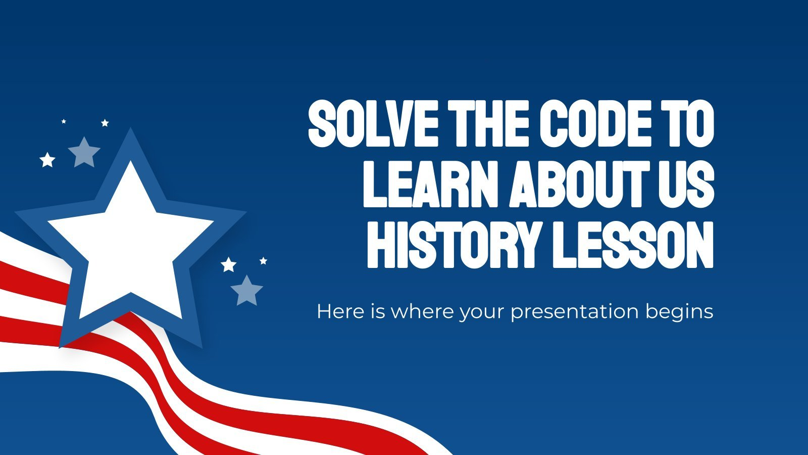Solve the Code to learn about US History Lesson presentation template