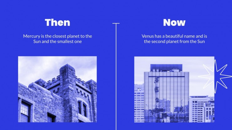 Now & Then Business presentation template