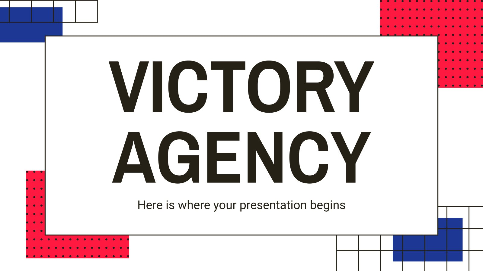 Victory Agency presentation template