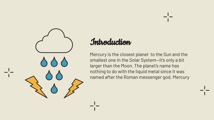 Meteorology School Center presentation template