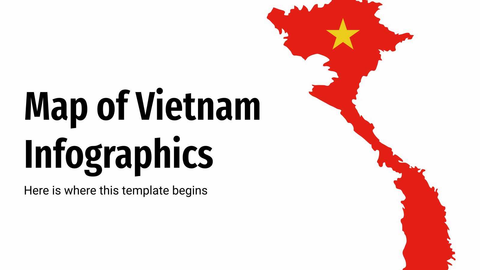 Map of Vietnam Infographics presentation template