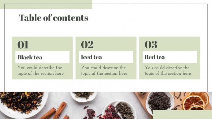 International Tea Day! presentation template