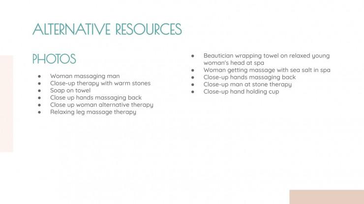 Journée du massage thérapeutique : Modèles de présentation
