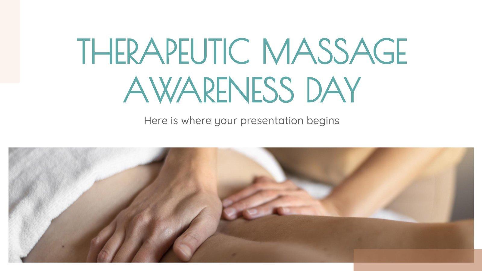 Modelo de apresentação Dia da Massagem Terapêutica