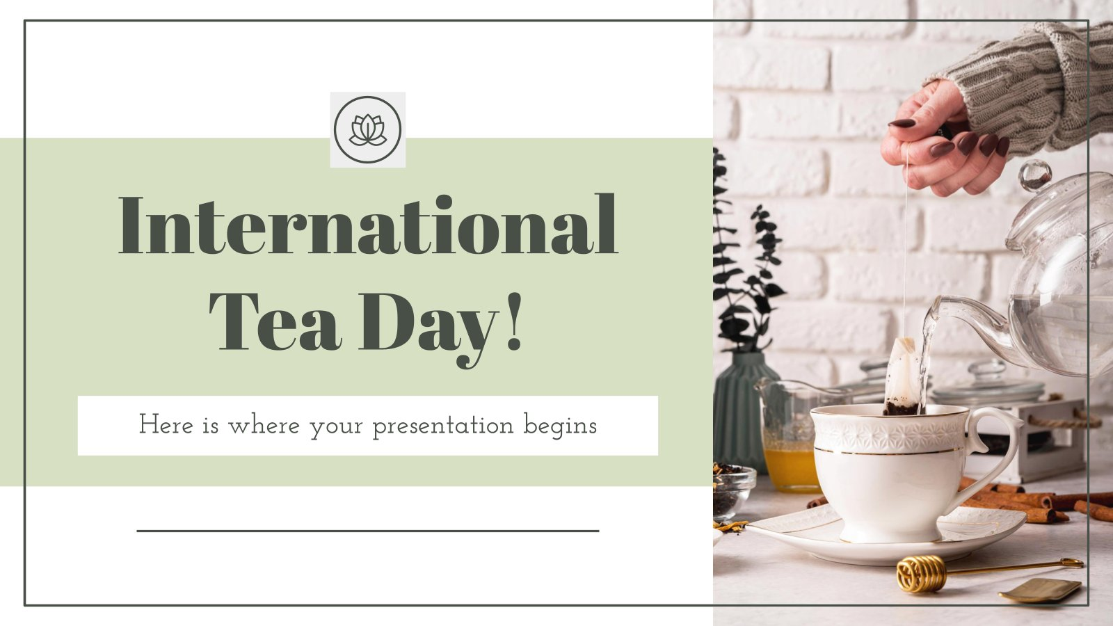 Plantilla de presentación Día internacional del té