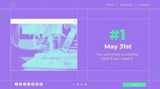 Web Designer Day presentation template