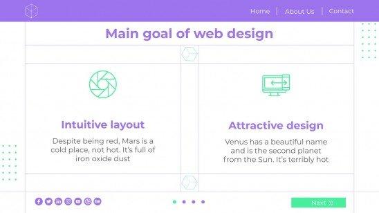 Modelo de apresentação Dia do Web Designer