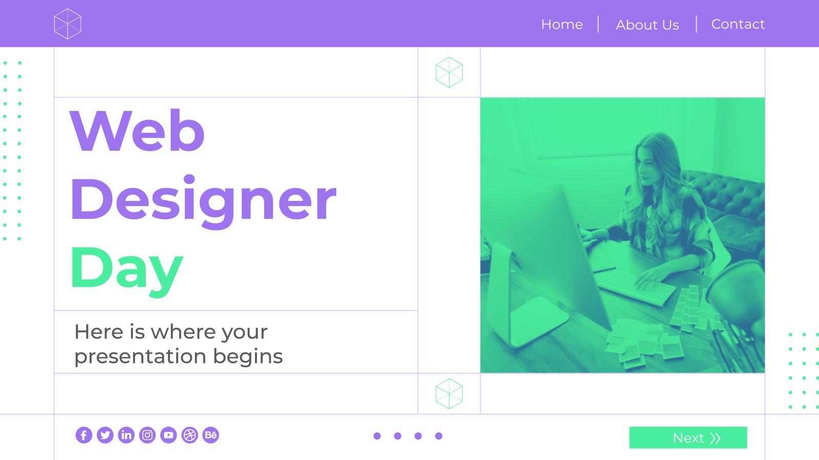 Plantilla de presentación Día del diseñador web