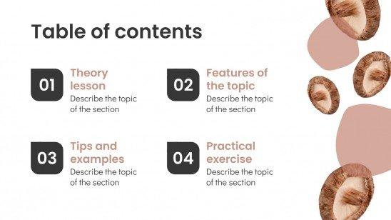 Mushroom Properties and Recipes! presentation template