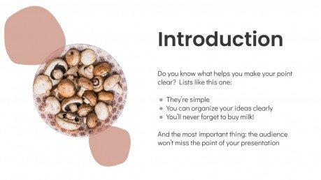 Modelo de apresentação Receitas com cogumelos