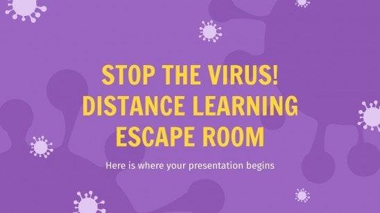 Modelo de apresentação Pare o vírus! - scaperoom à distância