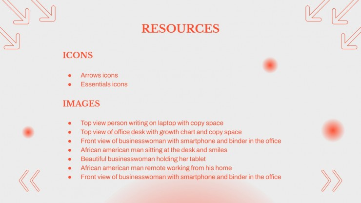 Plantilla de presentación Perfil de empresa con círculos suaves