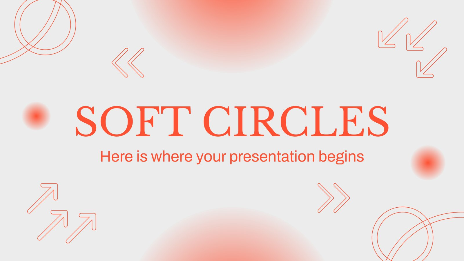 Soft Circles Company Profile presentation template