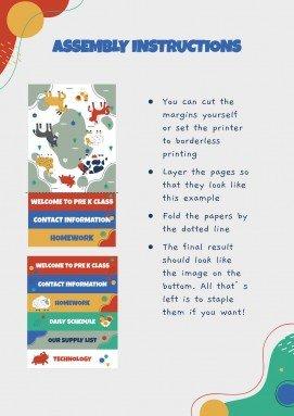 School Flipbook to Meet Your Teacher presentation template