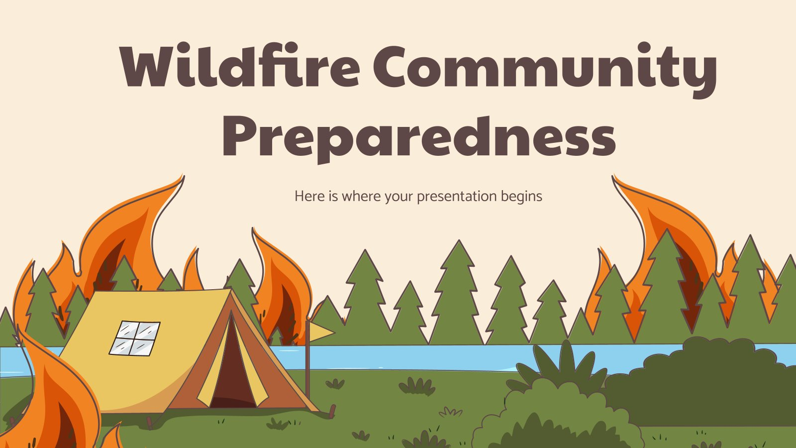 Wildfire Community Preparedness presentation template